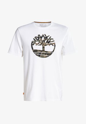 SS KENNEBEC RIVER CAMO TREE - T-shirt med print - white