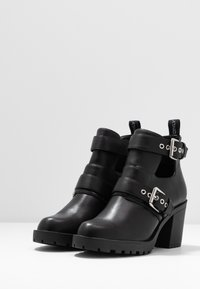 ONLY SHOES - ONLBARBARA DOUBLE STRAP HEELED - Ankle boot - black - 4