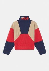 Fila - ELLA CROPPED HALF ZIP - Fleece jumper - true red/black iris/irish cream - 1