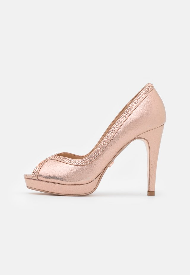 SHOWCASE GHOSTLY PEEPTOE - Peeptoe heels - rose gold