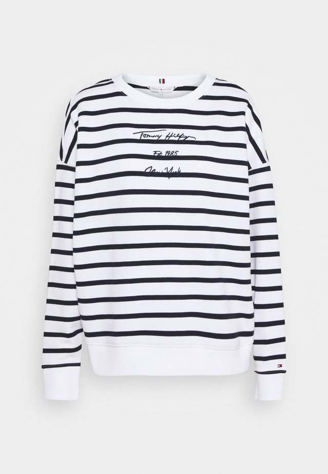 OVERSIZED SCRIPT OPEN - Sweatshirt - cabana/white