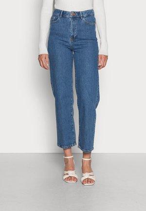 TROUSERS HANNA RETRO BLUE - Straight leg jeans - denim blue