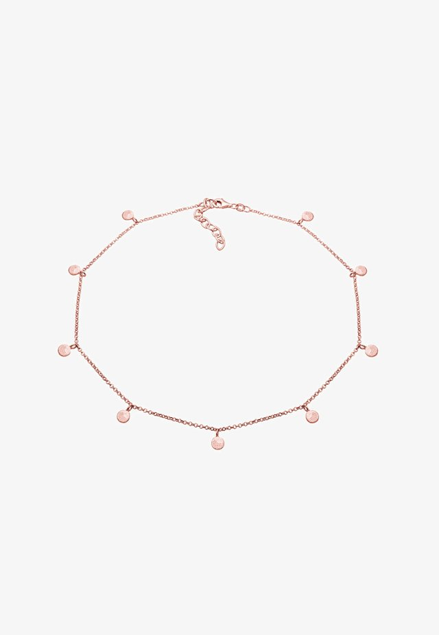 CHOKER COIN PLATE - Ketting - rosegold-coloured