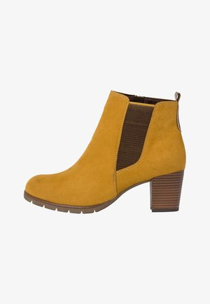 STIEFELETTE - Ankle boots - mustard comb