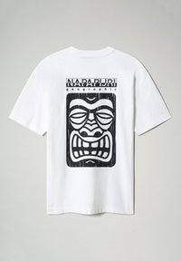 Napapijri - S-HAENA - T-shirt con stampa - bright white - 4