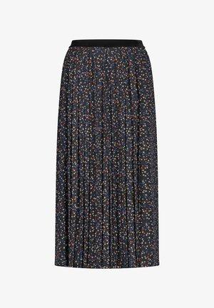 MIT MINIMALDESSIN - A-line skirt - schwarz/ kobalt/ kürbis druck