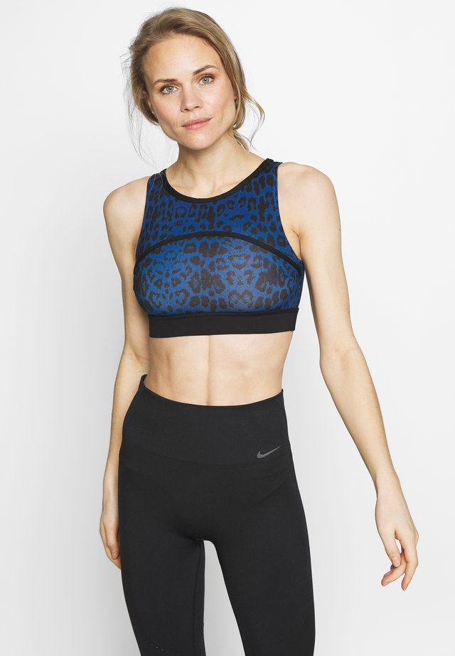 PAINTED LEOPARD  - Top - blue