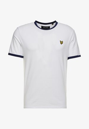 RINGER TEE - T-shirt - bas - white/navy