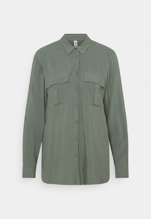 RADIA - Button-down blouse - shadow green