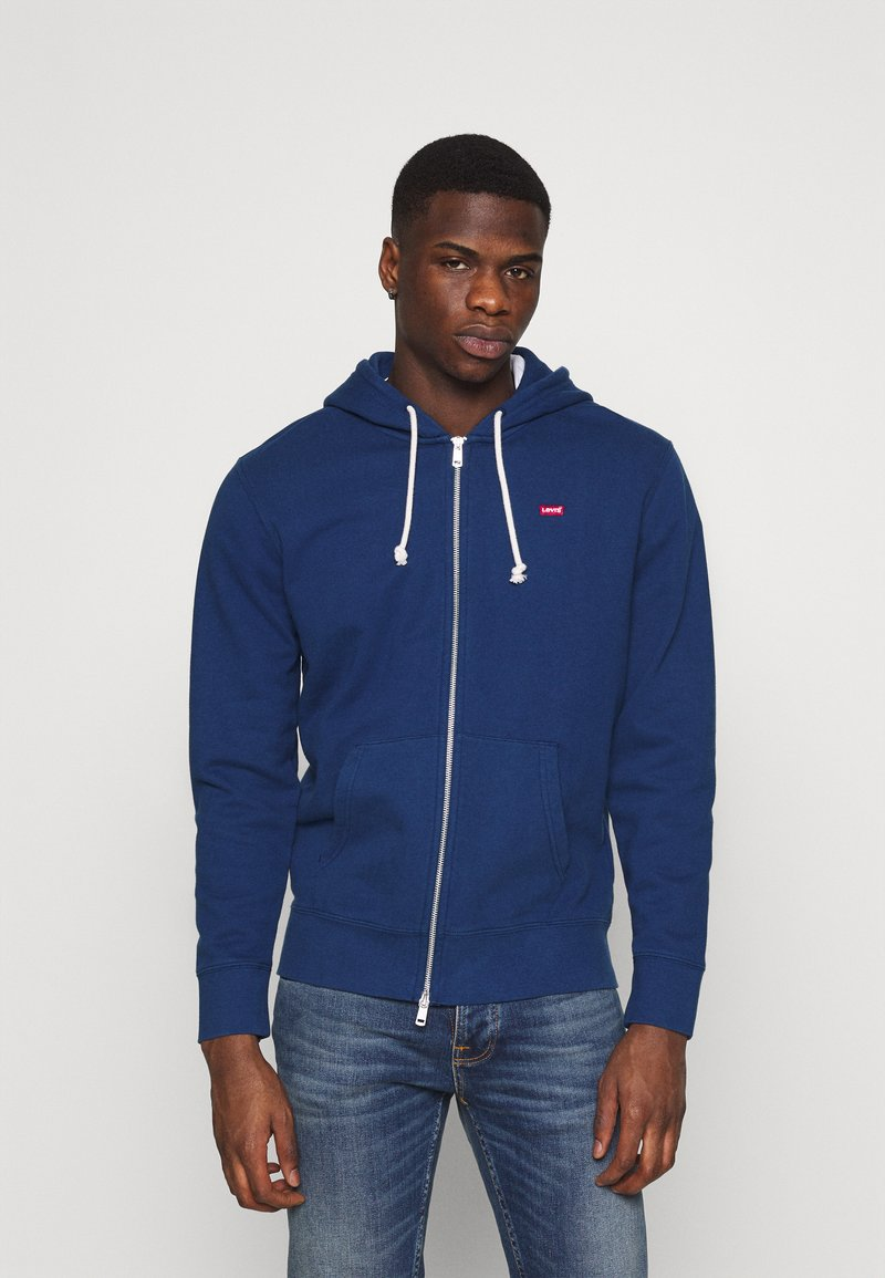 Levi's® - NEW ORIGINAL ZIP UP - Felpa aperta - blues