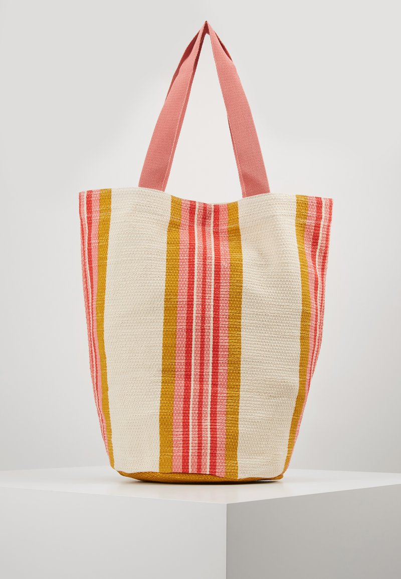 Seafolly - CARRIEDAWAYSTRIPE CYLINDER TOTE - Beach accessory - saffron