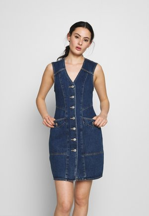 ETTA DRESS - Vestido vaquero - dark-blue denim