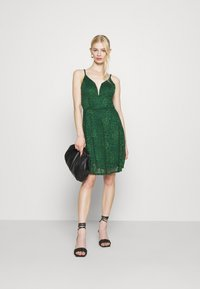 WAL G. - CAMRYN STRAPPY SKATER DRESS - Cocktail dress / Party dress - forest green - 1