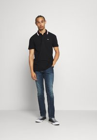 Tommy Jeans - CLASSICS TIPPED - Polo shirt - black - 1