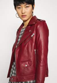 Deadwood - RIVER - Leather jacket - burgundy - 3