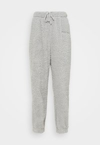 Missguided - BORG HALF ZIP HOODIE JOGGERS - Sweatshirt - grey - 4