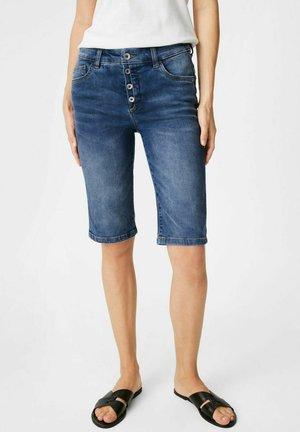 Denim shorts - denim-dark blue