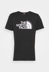 The North Face - CURVED EXPLORATION TEE - Triko spotiskem - black - 4