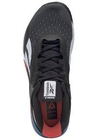 Reebok - NANO X - Chaussures d'entraînement et de fitness - black/white/vivid orange - 1