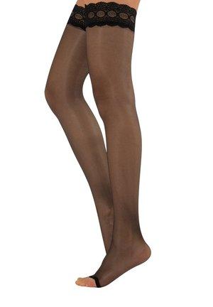 OPEN TOE  HOLD UPS  - Over-the-knee socks - black