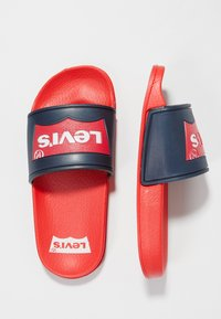 Levi's® - POOL 02 - Pool slides - red/navy - 1
