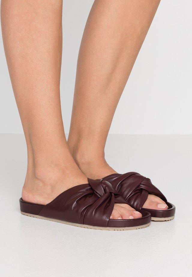 BREA  - Ciabattine - burgundy