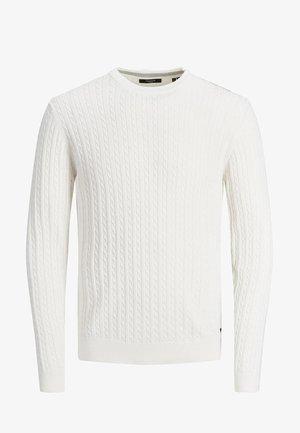 Stickad tröja - blanc de blanc