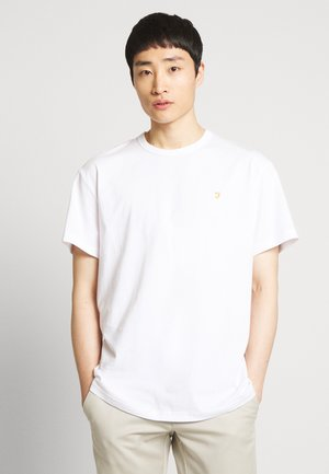 COLLIER REGULAR FIT TEE - Jednoduché triko - white