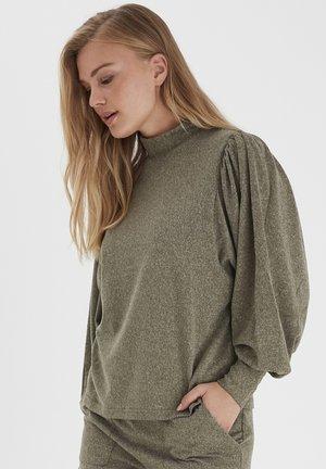 BXSELMA - Langærmede T-shirts - olive night melange