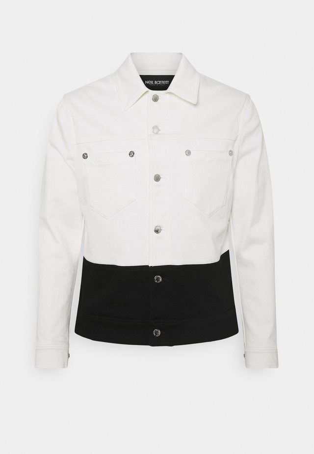 JACKET - Giacca di jeans - off white/black