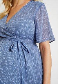 Glamorous Bloom - PIN SPOT WRAP DRESS - Denní šaty - blue - 5