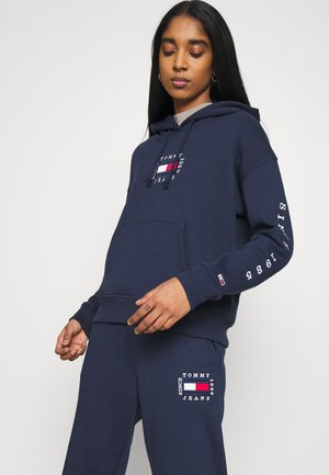 BOX FLAG HOODIE - Felpa con cappuccio - twilight navy