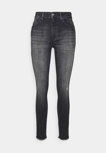 ONLBLUSH LIFE MID  - Jeans Skinny Fit - black denim