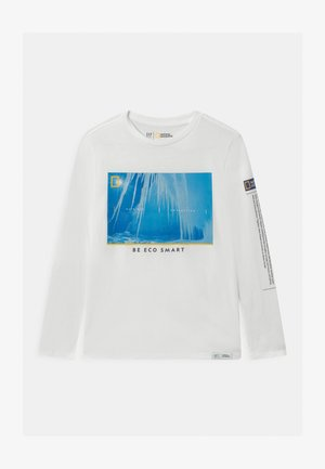 BOY NATIONAL GEOGRAPHIC NORTHERN LIGHTS - Maglietta a manica lunga - new off white