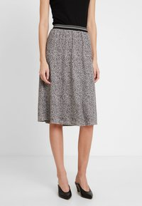 comma casual identity - LANG - A-line skirt - brown - 0