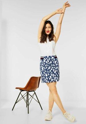 MIT PRINT - A-line skirt - blau