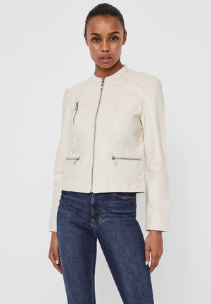 Faux leather jacket - birch
