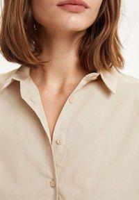 DeFacto - Button-down blouse - beige - 3