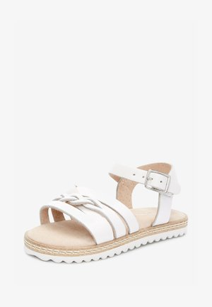 GOLD LEATHER PLAIT SANDALS (YOUNGER) - Sandals - white