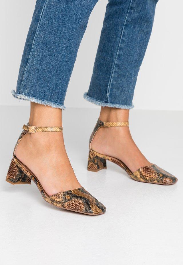 JAY SQAURE TOE BLOCK - Classic heels - multicolor