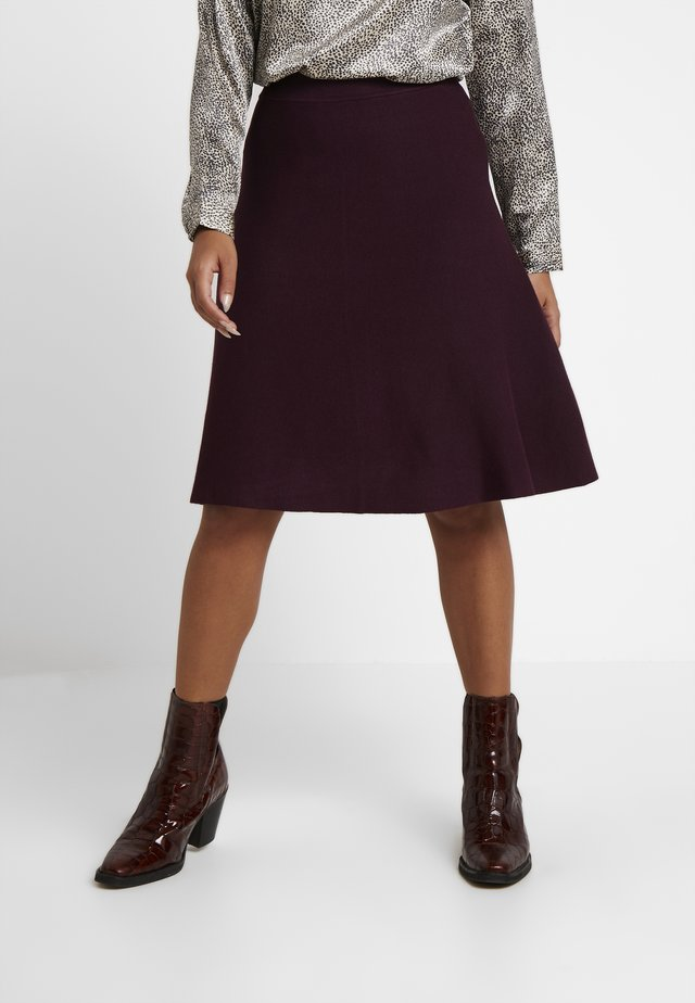 A-line skirt - bordeaux