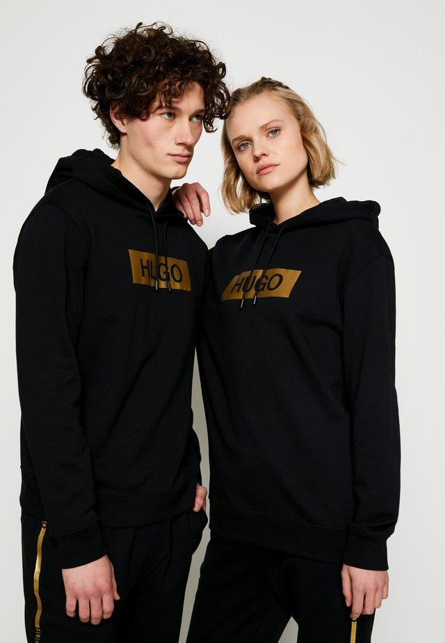 DAISUKE METALLIC UNISEX - Hoodie - black/gold