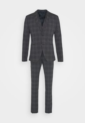 BOLD CHECK 3PCS SUIT - Suit - dark blue