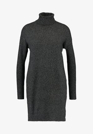 VMBRILLIANT ROLLNECK DRESS  - Jumper dress - black melange