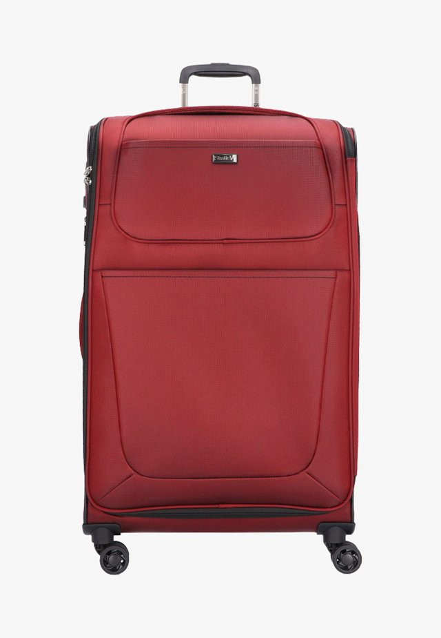 Wheeled suitcase - ruby red