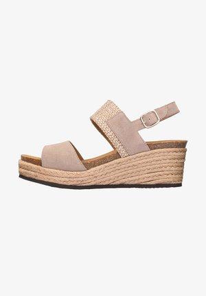 MIT KEILABSATZ ELENA - Sandalen met plateauzool - beige