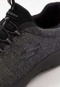 Skechers Wide Fit - SUMMITS - Trainers - black - 5
