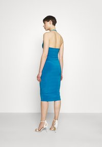 Missguided - HALTER NECK CHANNEL CUT OUT - Jersey dress - blue - 2