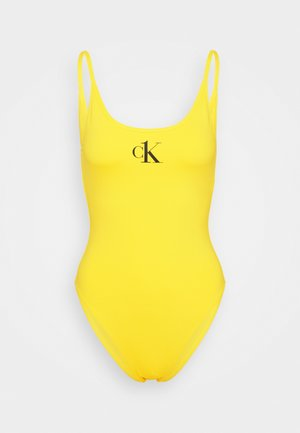 ONE SCOOP BACK ONE PIECE - Swimsuit - hazard yellow