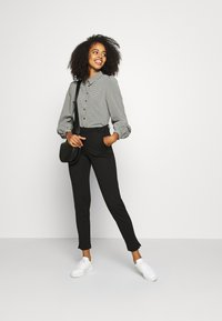 Vero Moda - VMBEATE - Button-down blouse - black/snow white - 1